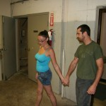 Melanie Hicks takes her boyfriend into the janitor's closet at school
