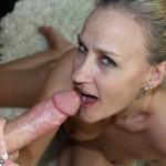 Mature Valerie Rose jerking a big cock