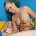 MILF Valerie Rose stroking a big prick