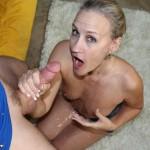Valerie Rose gets bathed in a load of cum